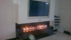 Biokominek  trójstronny z linią ognia 1800 mm
