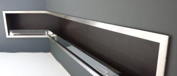Biokominek narożny wbudowany w ścianę