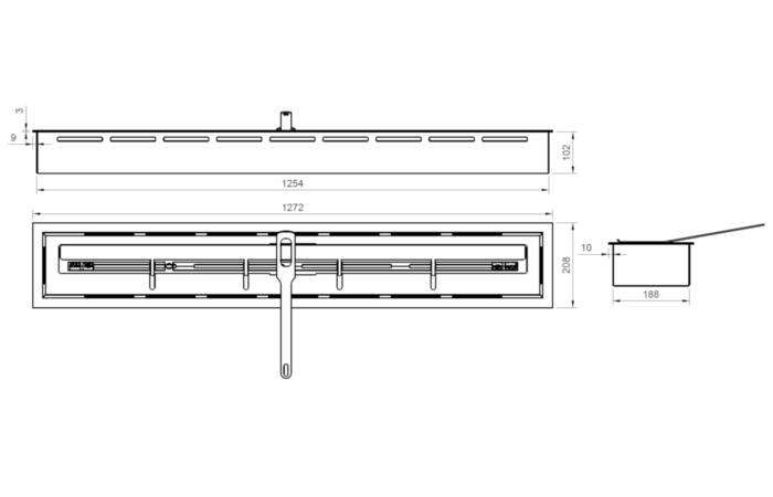 ARTFLAME 1200 - Rysunek techniczny