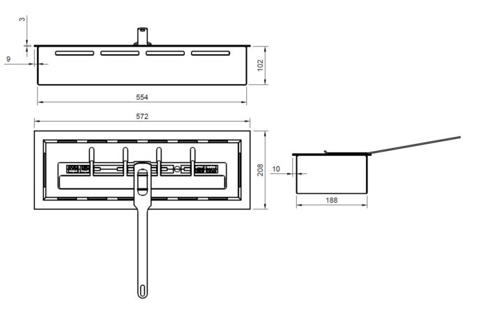 ARTFLAME 500 - Rysunek techniczny