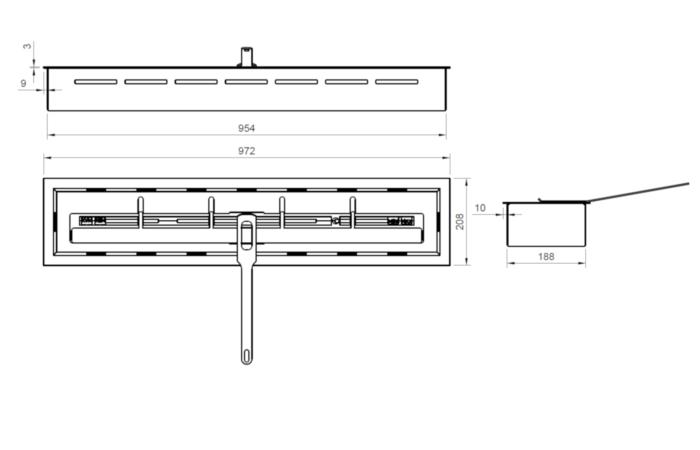 ARTFLAME 900 - Rysunek techniczny
